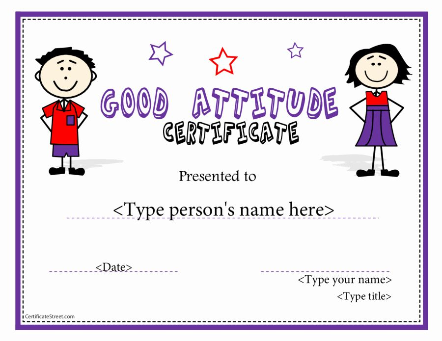 Free Printable Perfect attendance Award Certificates Best