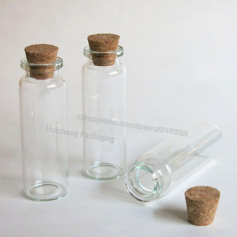Decorative Bottles Wholesale Inspiration 50 X 15Ml Clear Glass Bottle With Wood Cork Stopper 15Cc Glass 2018