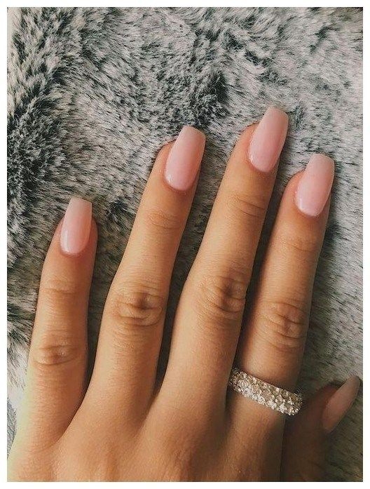48 Cute And Lively Pink Solid Color Bride Nails Suitable For Any Place Page 45 Of 48 00141 Simple Nails Short Acrylic Nails