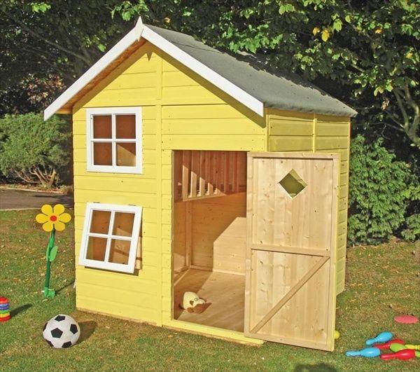 DIY Designs \u2013 Kids Pallet Playhouse Plans Fun things for Breleigh - casitas de jardin para nios