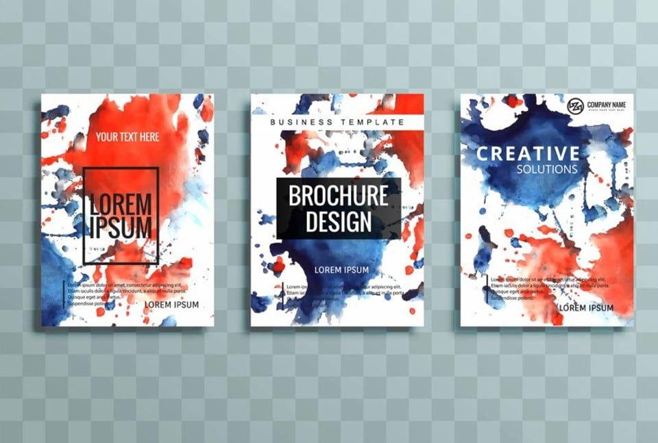 حديث ملون مجموعة كتيب الأعمال Business Brochure Business Template Brochure