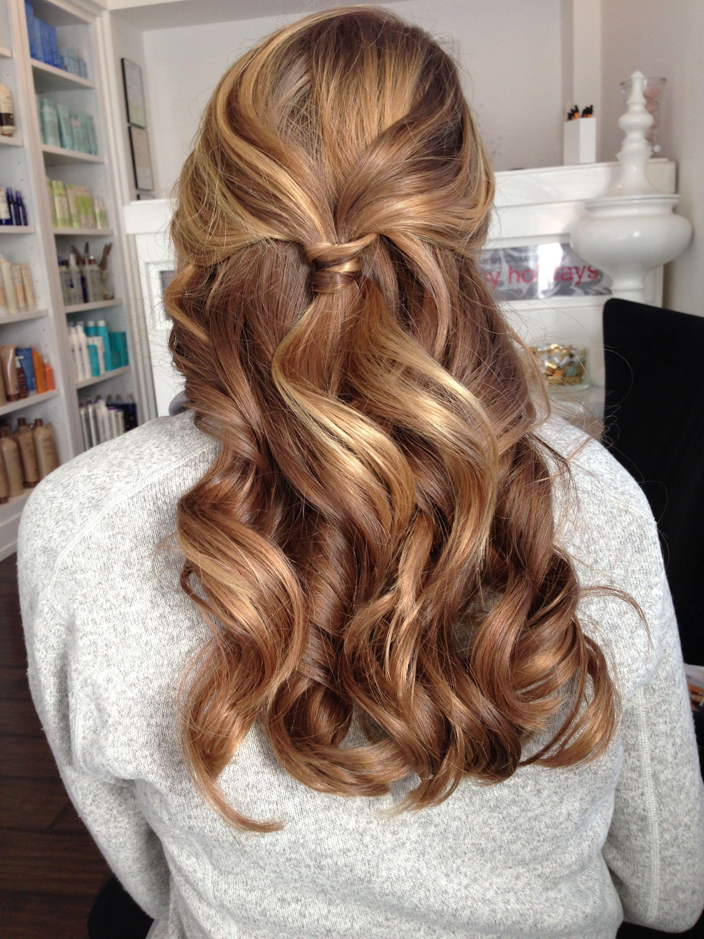 pinbaroque hair design on half up half down  hair