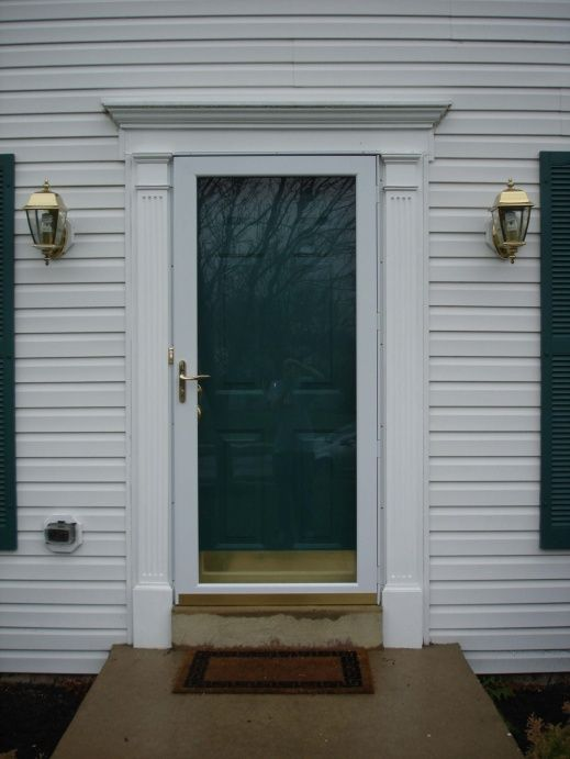 Google image result for for Exterior door pediment and pilasters