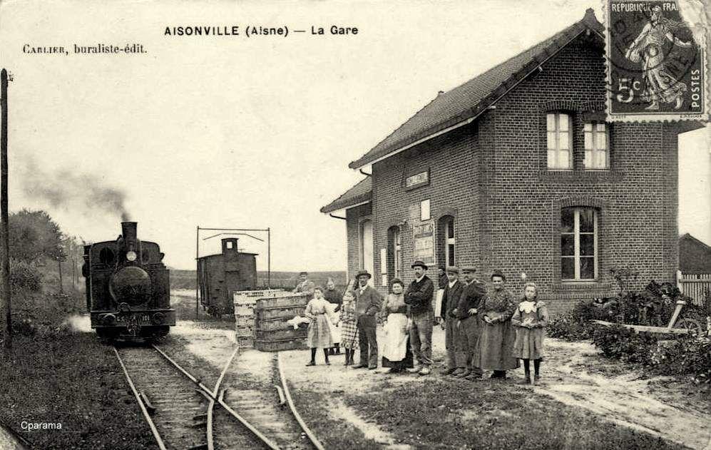 Aisonville 02 Train Electrique Cartes Postales Anciennes Et