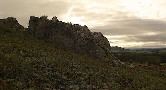 Nipstone Rock in Shropshire. Not far from The Devils Chair on the Stiperstones.