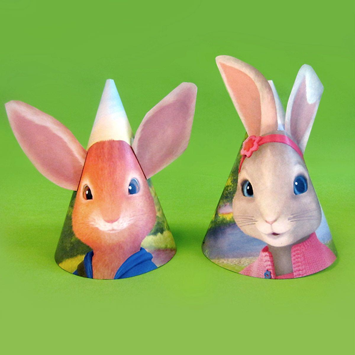 Peter Rabbit Bunny Ear Birthday Party Hats In
