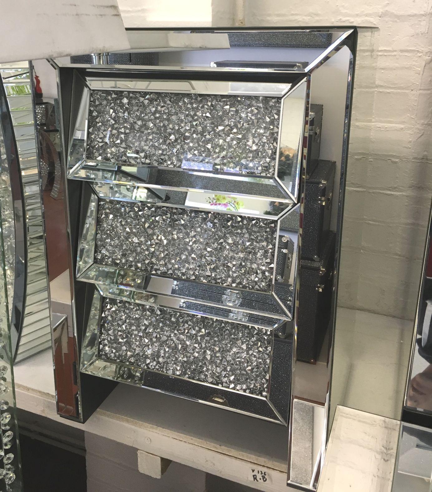 Pin on Mirrored glitter furniture