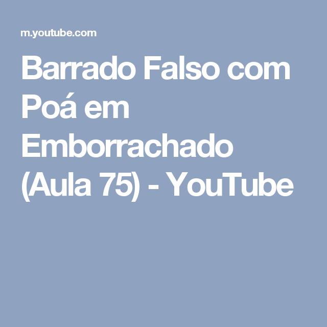 Barrado Falso com Poá em Emborrachado (Aula 75) - YouTube