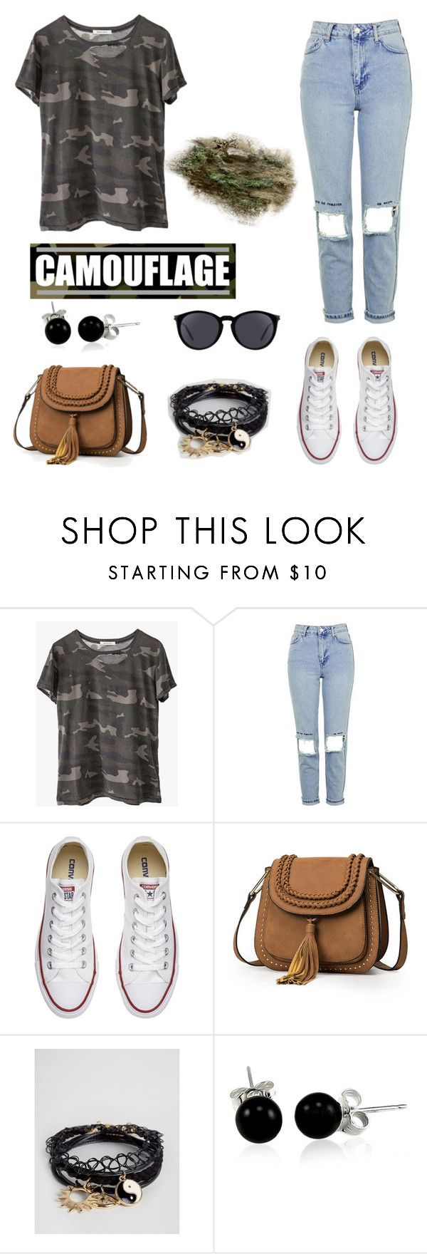 """""""Camo 🐊"""" by onnie45hottie ❤ liked on Polyvore featuring Ragdoll, Topshop, Converse, ASOS, Bling Jewelry and Yves Saint Laurent"""