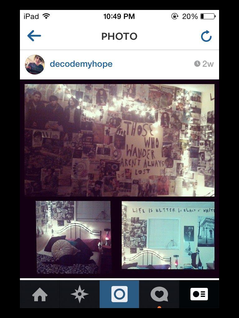 My room. Tumblr room. Alternative photo wall