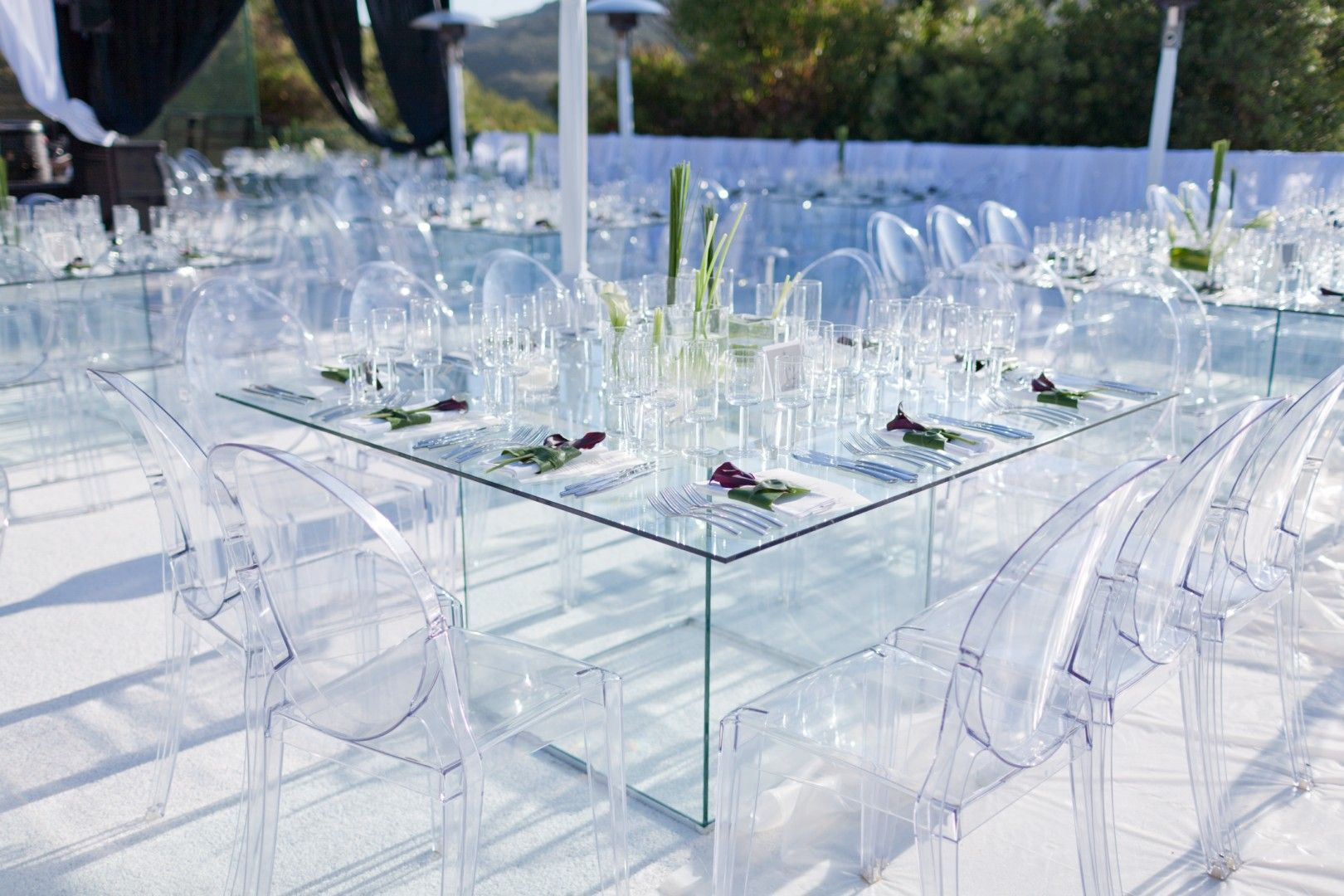 Untitled ice ice baby bat mitzvah pinterest event for Glass tables for wedding reception