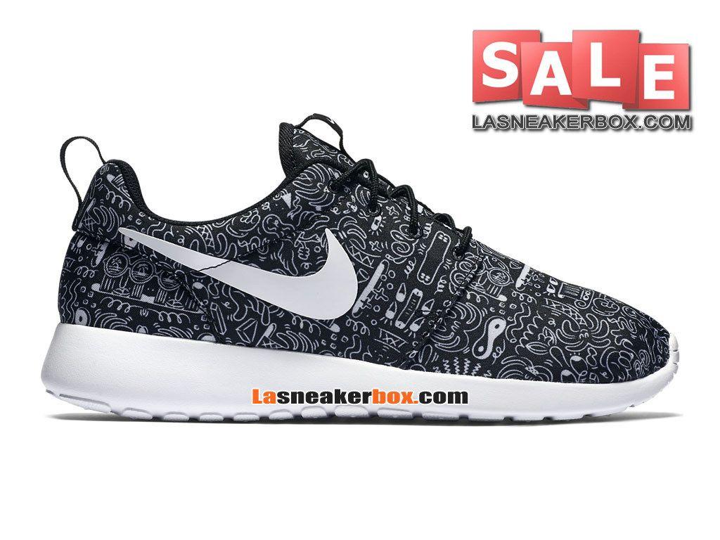 Nike Roshe Run Homme Print Nike Roshe One Noir Et Blanche