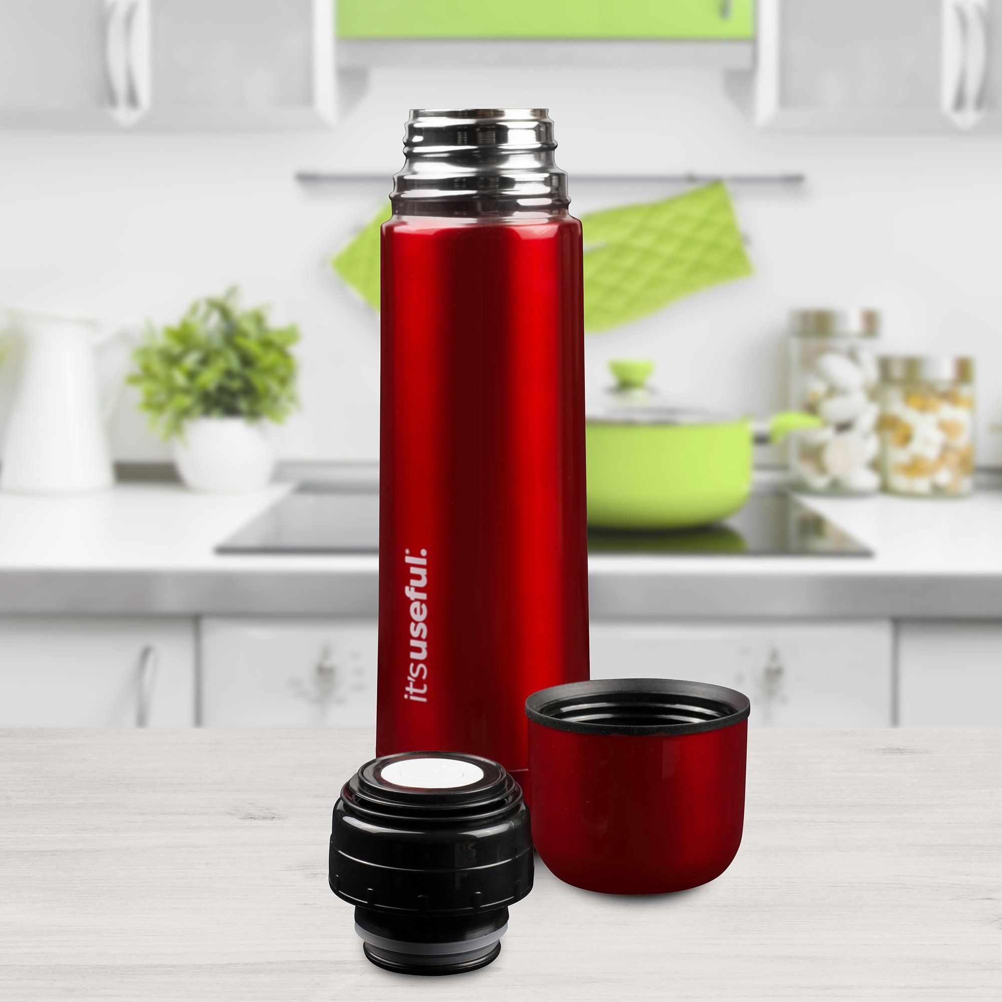 Its Useful 24 oz Stainless Steel Thermos Double Insulated