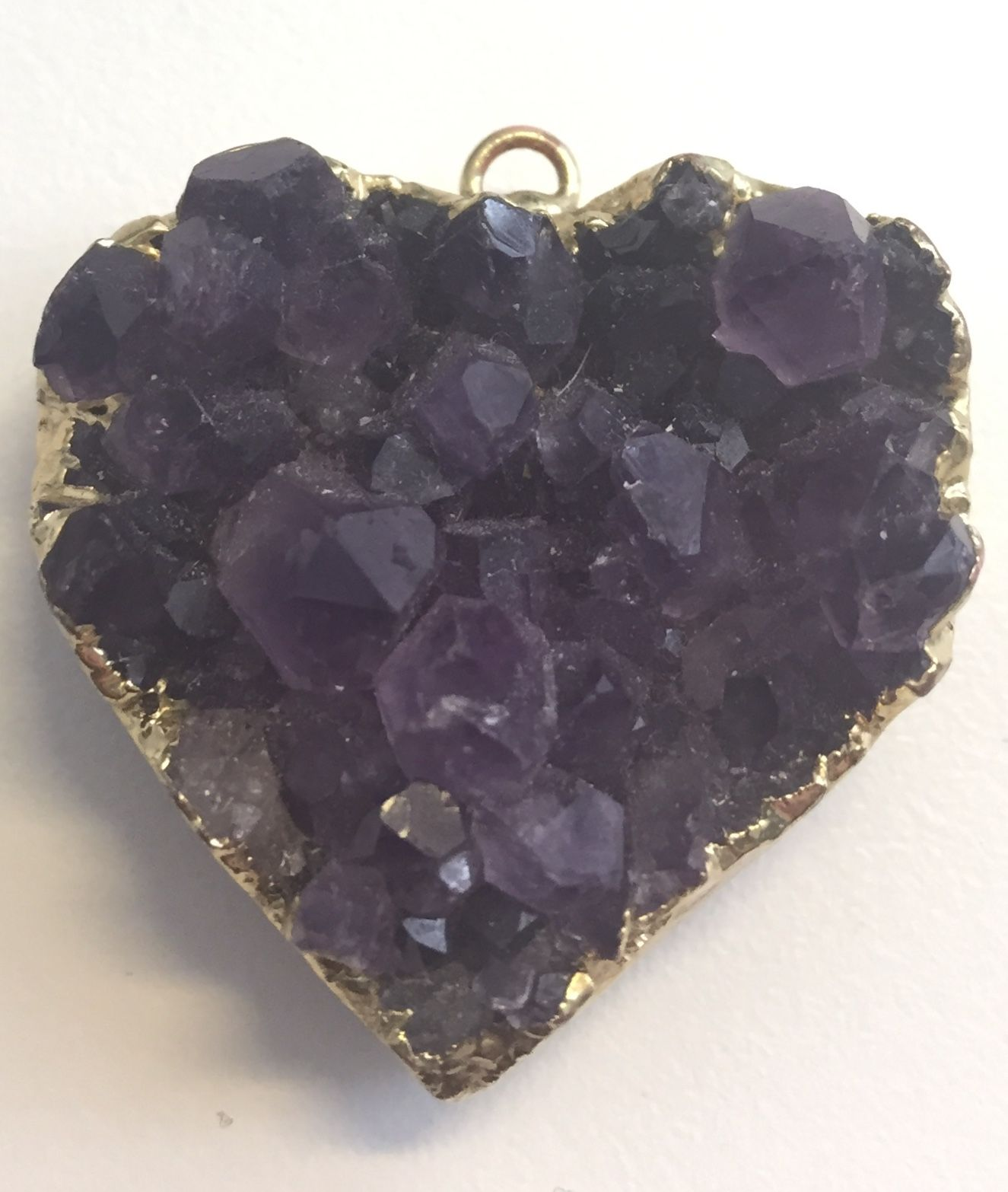 amathyst heart from my love Crystal vibes, Beautiful