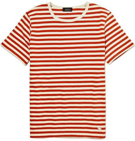 39f8a2c1c025 A.P.C. Red Striped Breton T-Shirt