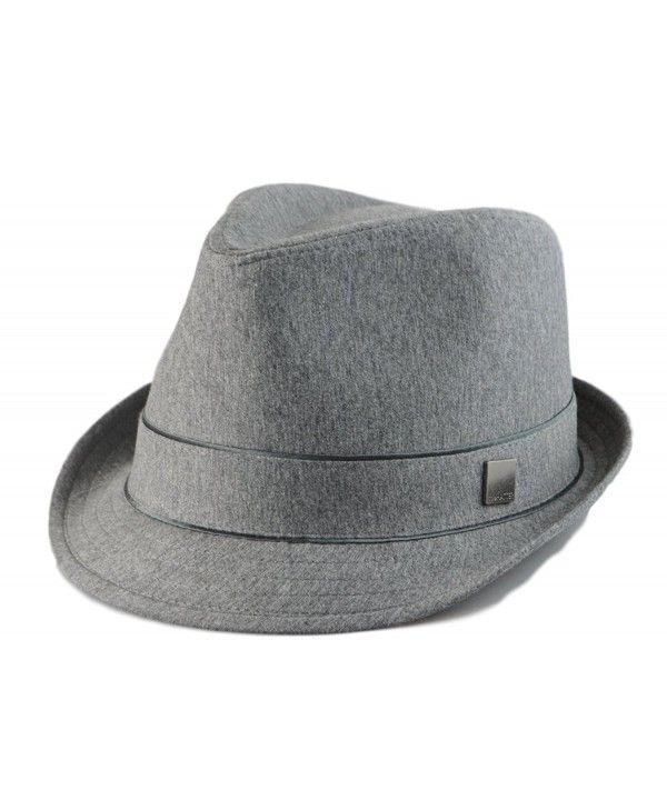 94b5370b9276d3 Big size Mens Plain Classic Fedora Trilby Soft Hat Hat XL(60cm)- XXL(62cm)  2Colors Gray CZ12DF1HI43 - Hats & Caps, Men's Hats & Caps, Fedoras #Fedoras  #Hats ...