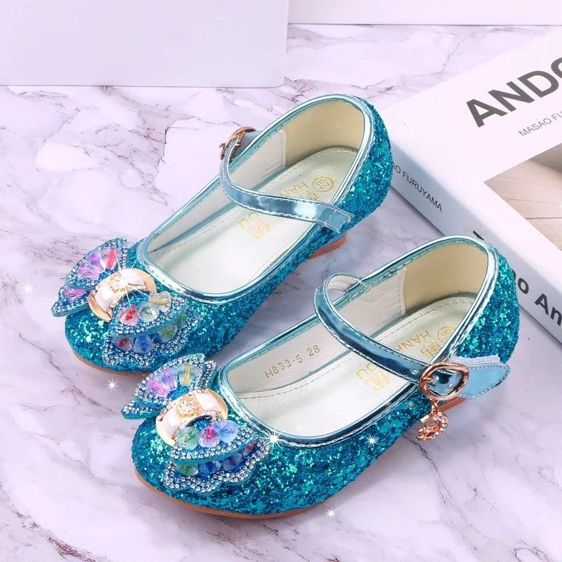 New Kids Girls Summer Slip On Sandals Infant Flat Pumps Rhinestone Shoes Size