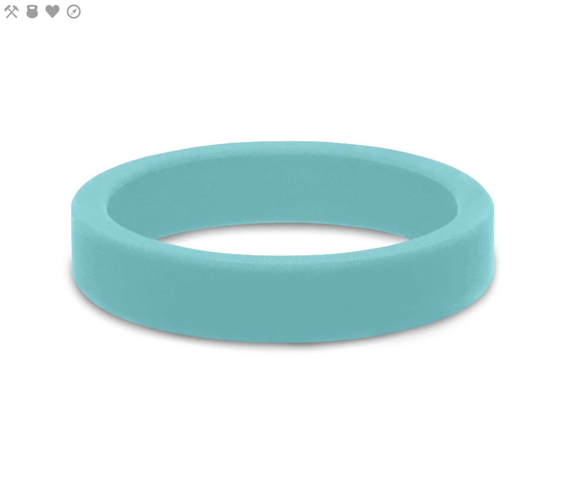 Womenus aquamarine smooth stackable silicone ring from qalo womens