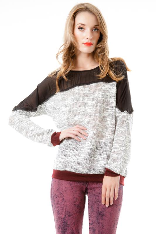 Mesh Back Sweater | Sweater Knit | Pinterest