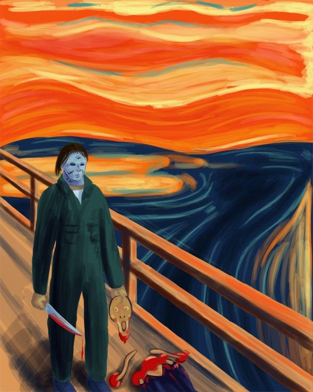 Michael Myers versus the Scream Guy | El grito, Viernes 13 y Festejo