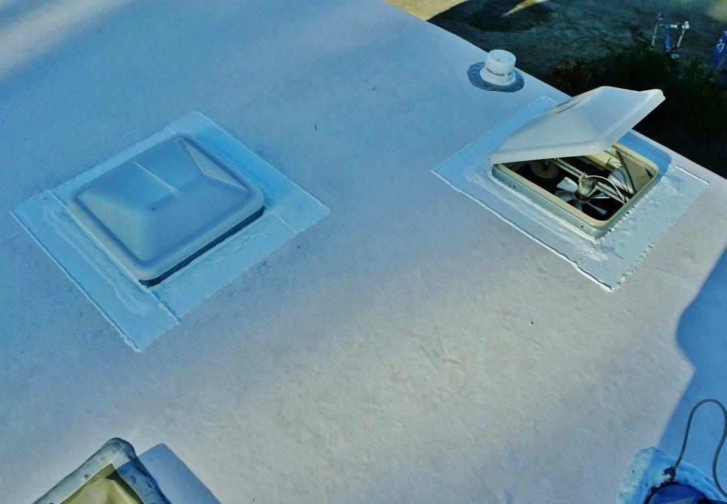 Resealing My Rv Roof With Eternabond Tape Love Your Rv Camper Repair Rv Reseal