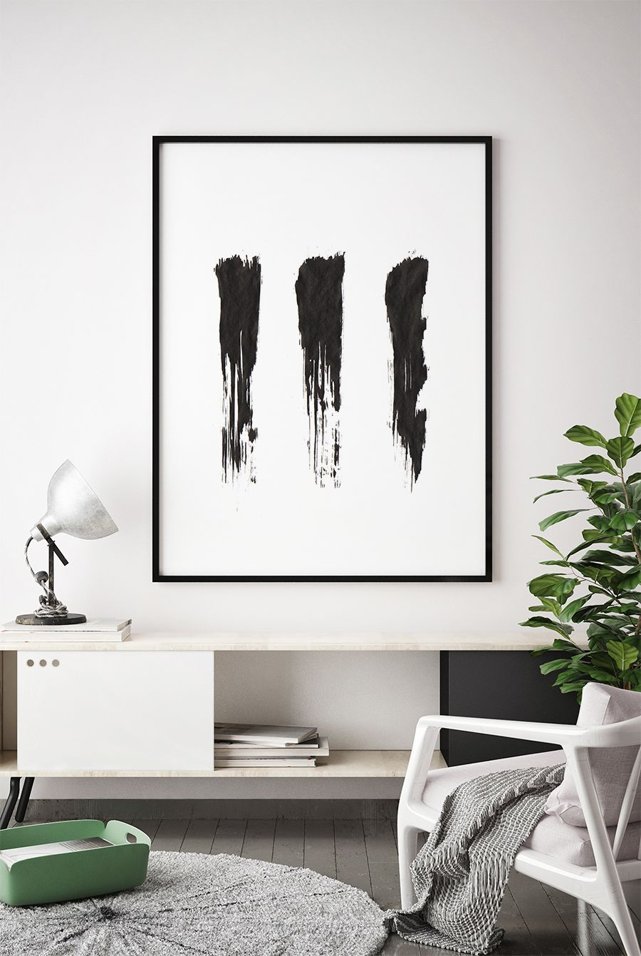 Abstract Painting Black And White Watercolour Wall Art Etsy Framed Abstract Art Watercolor Wall Art Minimalist Painting