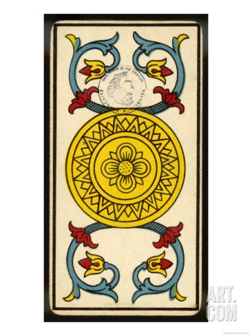 Tarot: The Ace of Coins Giclee Print | Vintage Pictures and Stuff