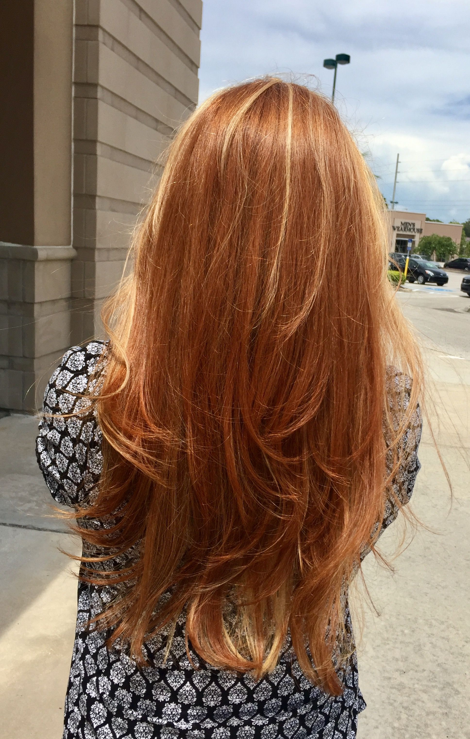Long Red Hair With Blonde Highlights Natural Red Hair Long Red
