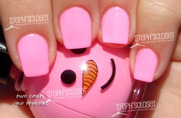 Neon Nail Polish | Steph\'s Closet Photo: Snowman Neon Pink Nail ...