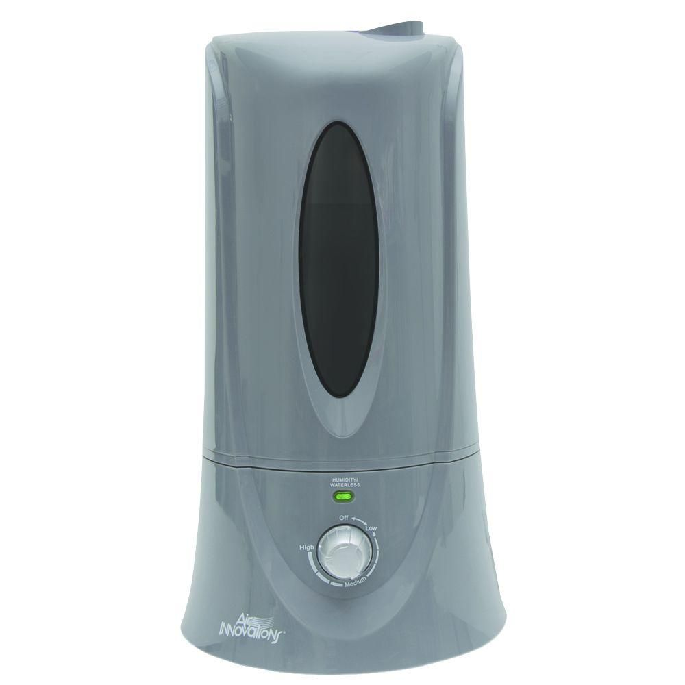 Air Innovations 1 1 Gal Cool Mist Humidifier For Medium Rooms Up To 400 Sq Ft Humid12 Silver Cool Mist Humidifier Ultrasonic Cool Mist Humidifier Media Room