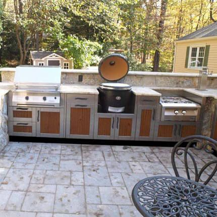 Best Stainless Cabinets With Wood Look Insets By Danver 640 x 480