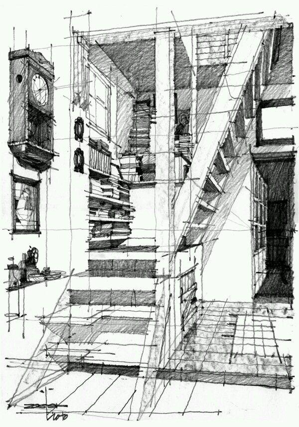 Interior Design Room Drawings Simple: Архитектурные эскизы, Эскизы