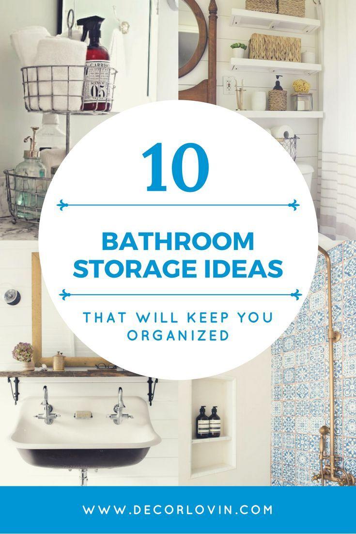 10 Bathroom Storage Ideas That Will Keep You Organized   DIY ...