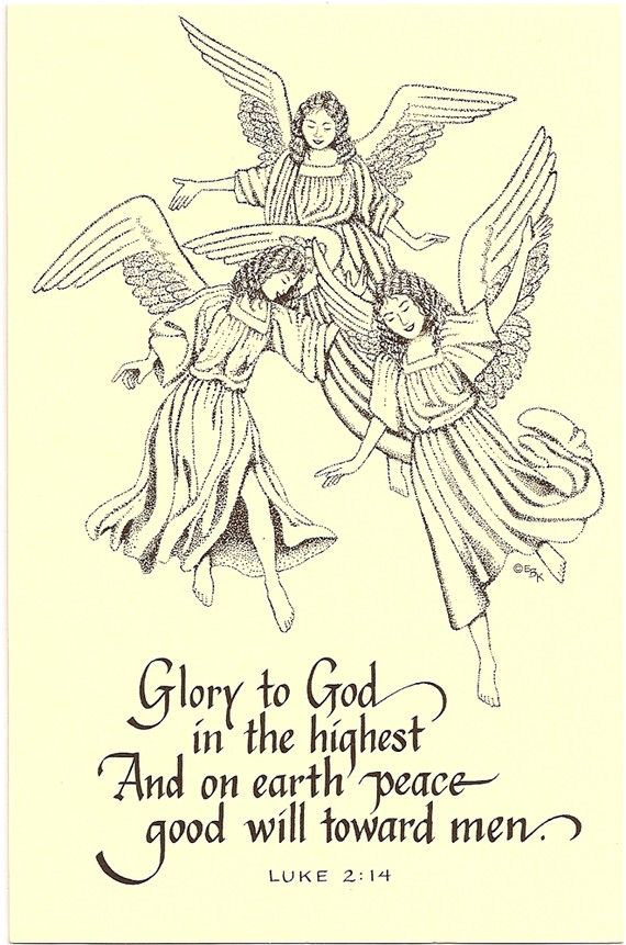Superbe Angels Postcards, 20 Christian Christmas Cards Or For Any Occasion. Glory,  Peace On