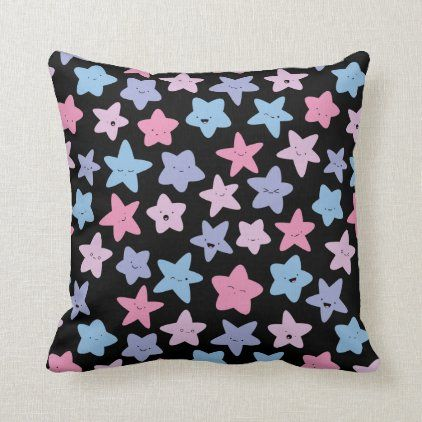 Kawaii pastel stars cosmic galaxy tote bag throw pillow