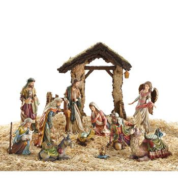 competitive price 63b15 5d8f8 Kirkland Signature Nativity 14pc. Set, Hand Painted ...