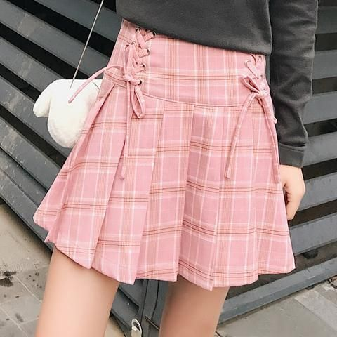 1149e3233395 Sweet grid bind lace pleated skirt SE11100 Coupon code