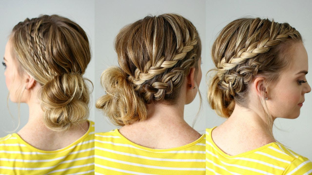 Double braided side bun hair pinterest braids hair and hair