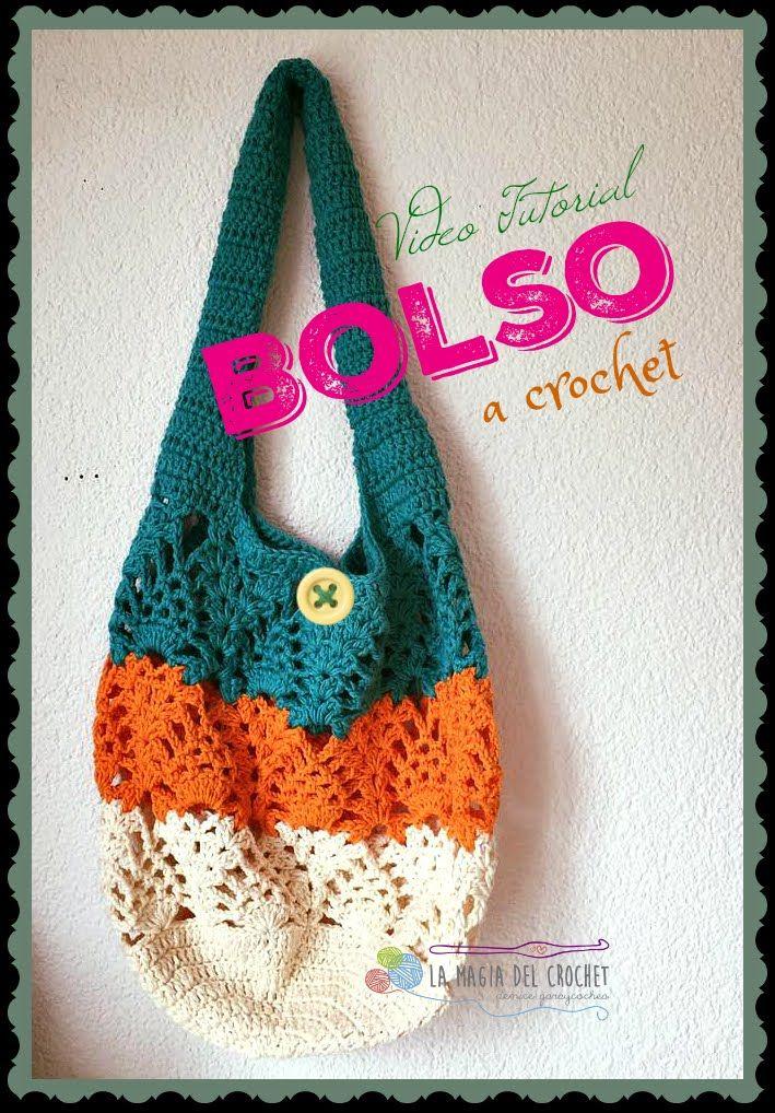 BOLSO CON PUNTO PIÑA AL CROCHET | BAGS,PURSES,TOTES ,BASSINETS ...
