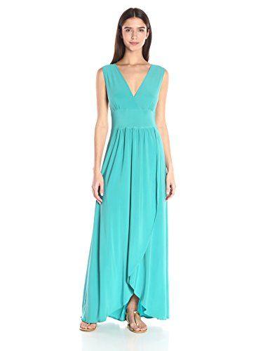 0e875ebc6aa0 Star Vixen Womens Sleeveless Surplice Tulip Skirt Empire Band Maxi Dress  Jade XLarge *** Click image for more details.
