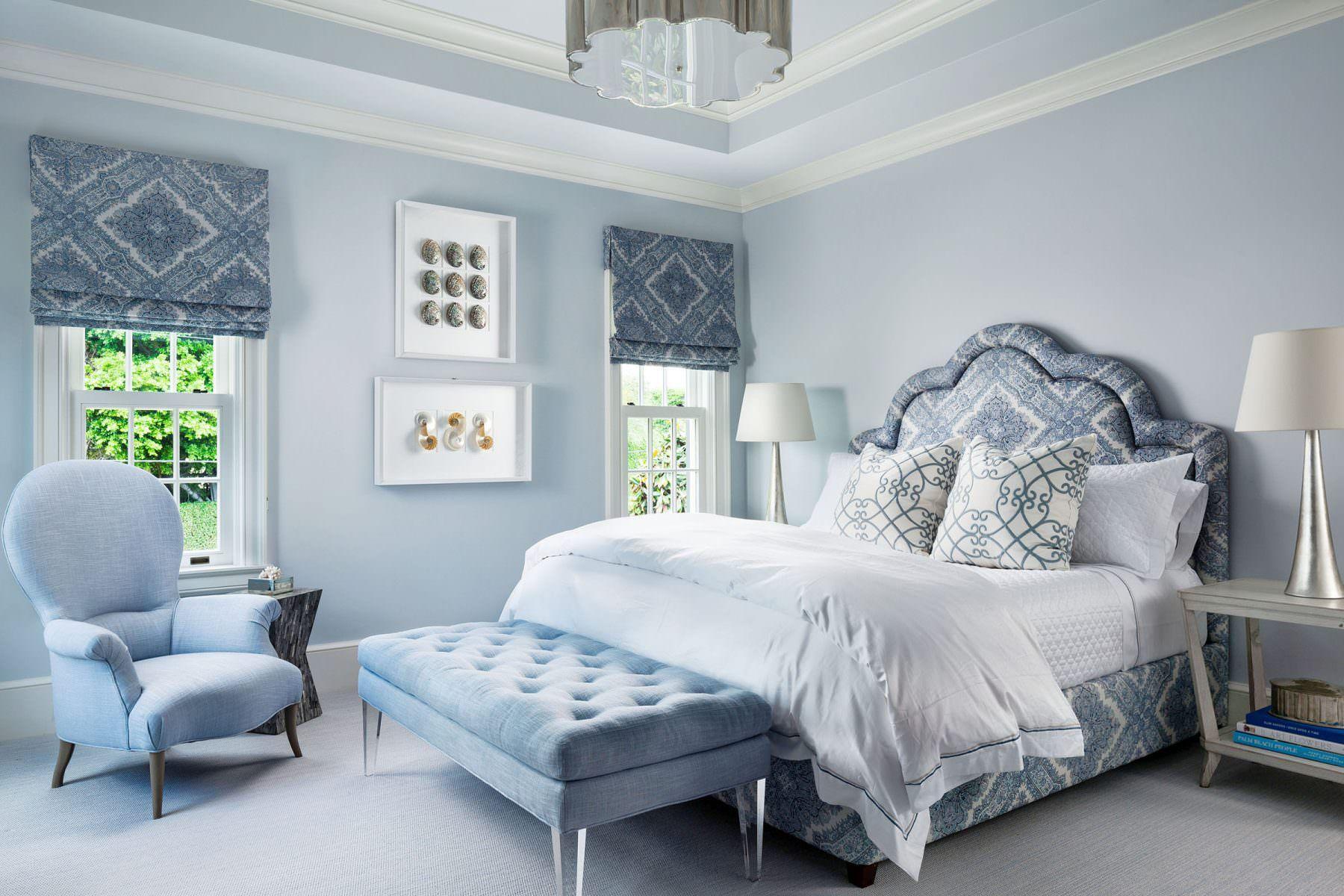 Elegant Island Residence Mccann Design Group Blue Master Bedroom Blue Bedroom Silver Bedroom