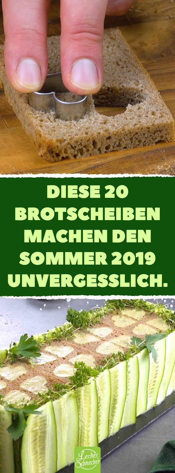 Sommerlicher Kuchen mit Brot, Guacamole, Frischkäse, Hähnchenbrust & Gurke.