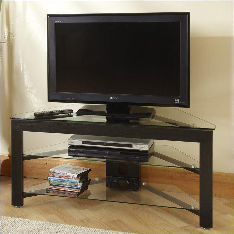 43 And Wood Corner Tv Stand In Black Wants Pinterest Corner