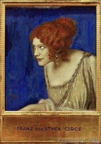 Franz Von Stuck - Tilla Durieux als Circe / F.v.Stuck (49,0 x 70,0 cm)