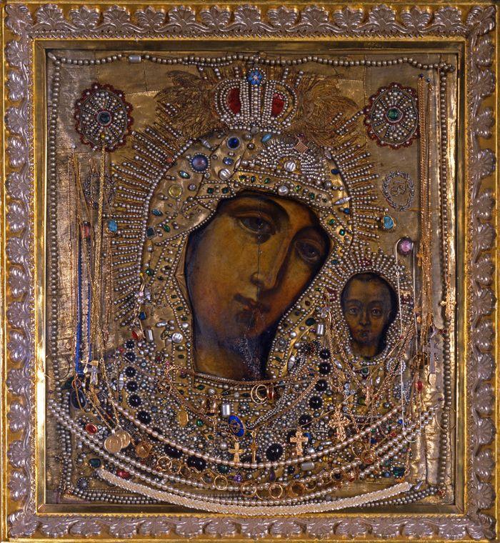 икона Казанской Божией Матери в Казанском соборе СПб