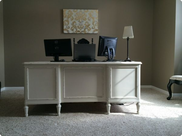 finished office makeover. White Executive Desk--Finished Desks | Office Ideas Pinterest Desks, Makeover And Shabby Chic Finished