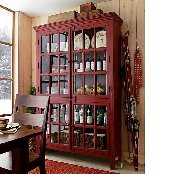 Rojo Red Tall Cabinet Crate And Barrel