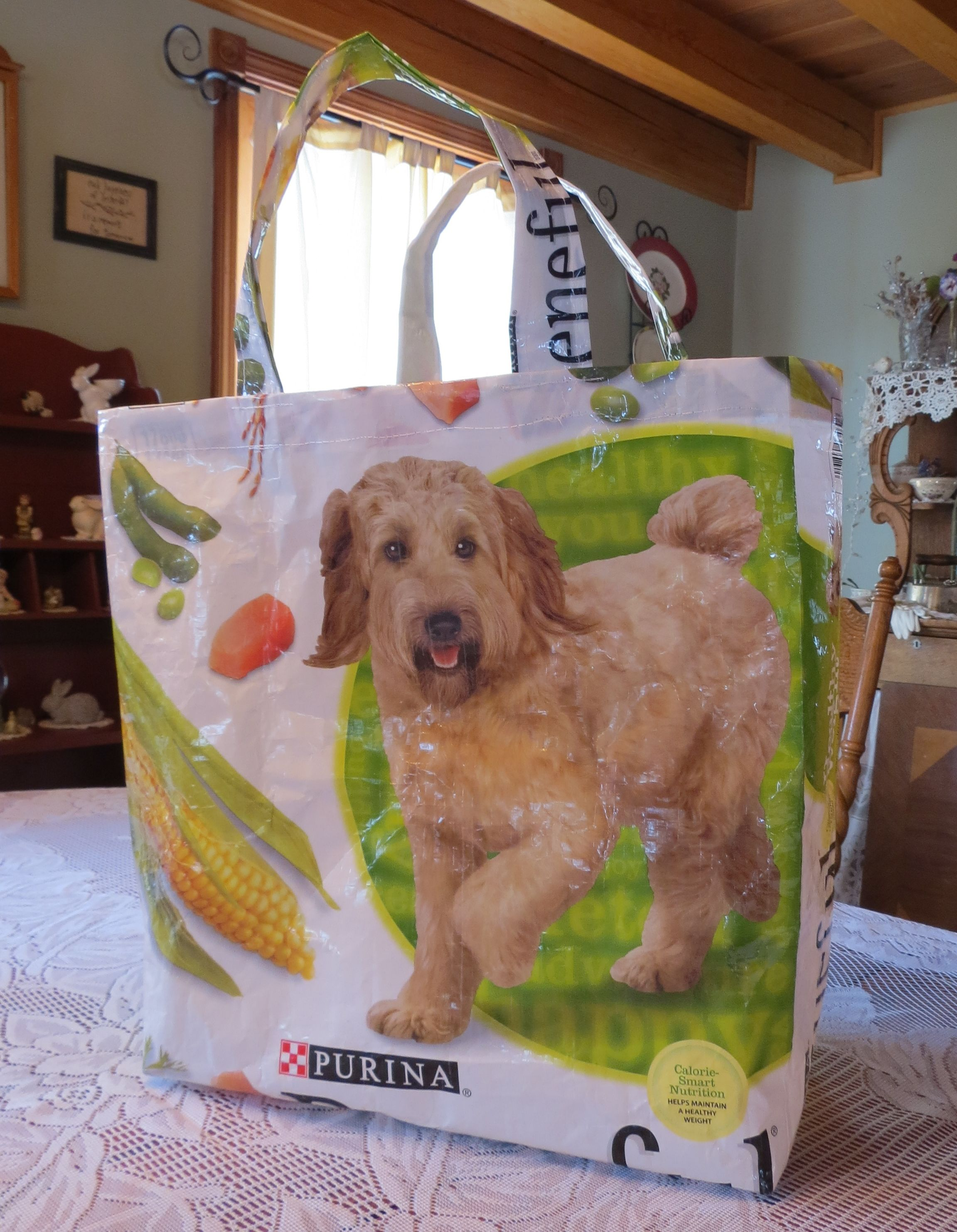 Recycled Dog Food Bag Craft Bags Feed Bags