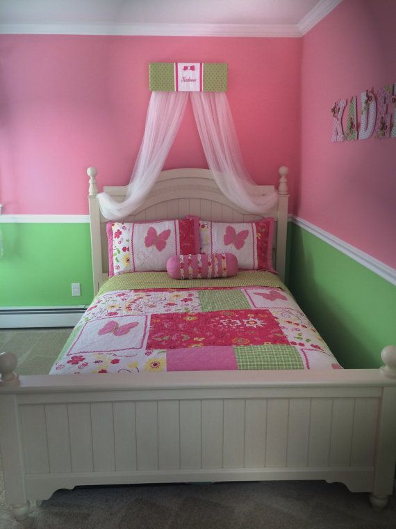 FrEe Embroidered BeD Teester Canopy Crown Princess Lime