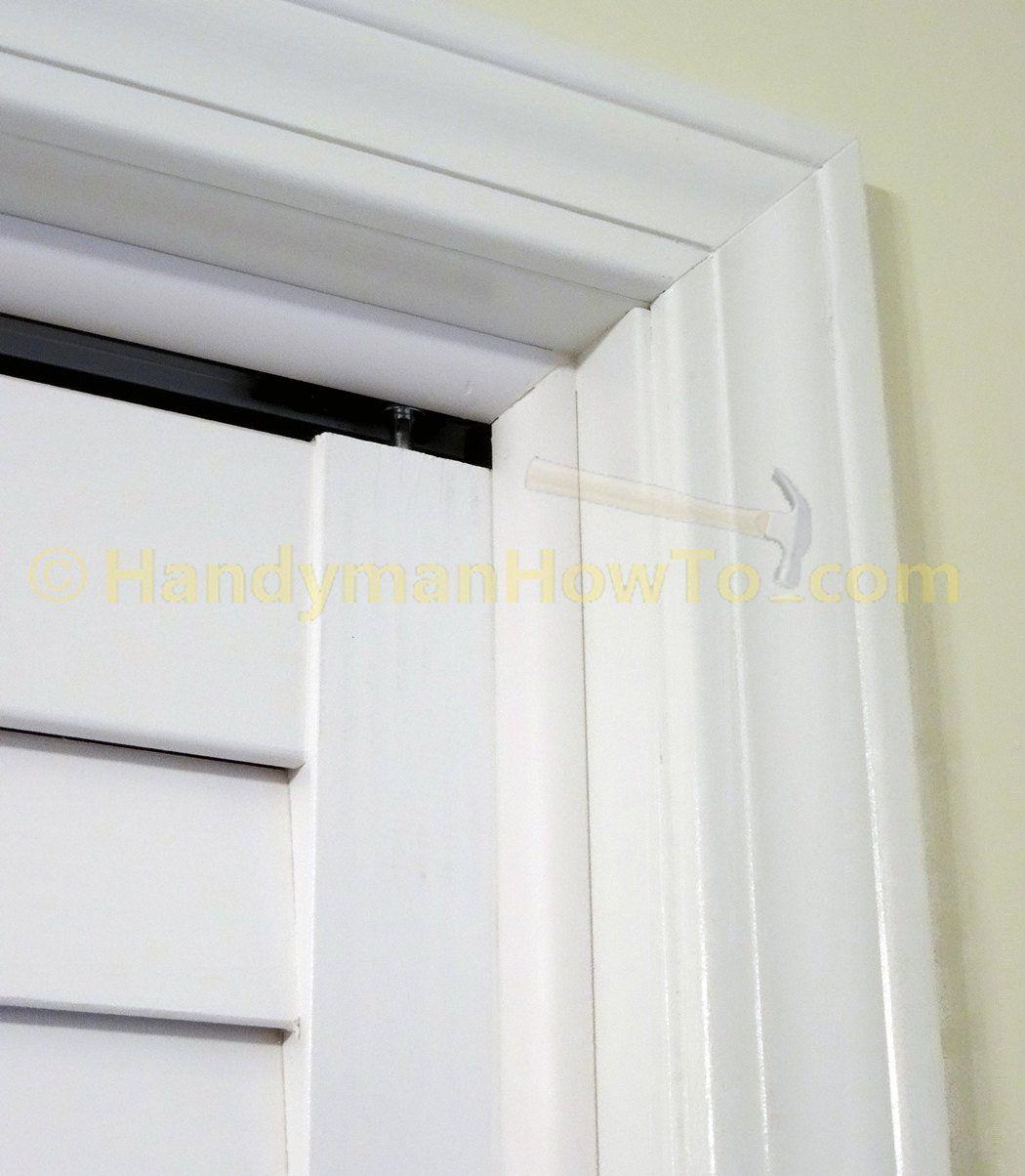 Bifold Door Closed Quarter Round Moulding Corner Detail